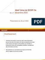 RAPPORT EVALUATION CIE ASSURANCE VIE