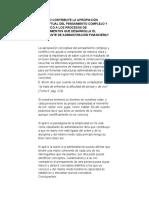 COMO CONTRIBUYE LA APROPIACIÓN CONCEPTUAL DEL PENSAMIENTO COMPLEJO Y CIENTIFICO A LOS PROCESOS DE CONOCIMIENTOS QUE DESARROLLA EL ESTUDIANTE DE ADMINISTRACIÓN FINANCIERA