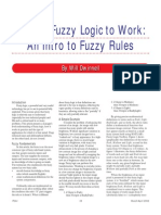 2002 - Putting Fuzzy Logic to Work - An Intro to Fuzzy Rule