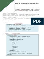 Manual do Template de dissertação em Latex