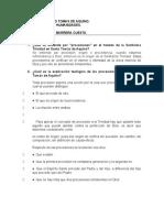 cuestionario sobre Procesiones