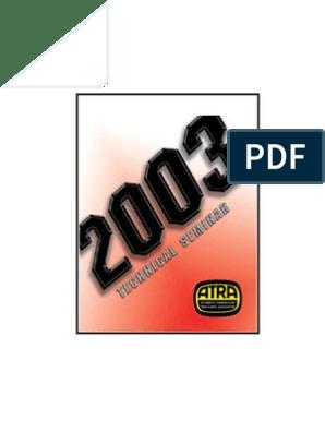 ATRA 2003 Seminar Manual | Transmission (Mechanics