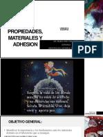 2.2 PROPIEDADES, MATERIALES Y ADHESION