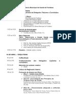 Programação da 8ª Conferência Municipal de Saúde de Fortaleza