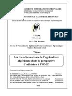 Les transformations de l'agriculture algérienne dans la perspective d'adhésion à l'OMC.