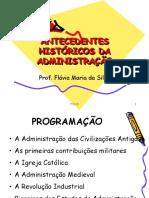 AULA 01 -  ANTECEDENTES HISTORICOS DA ADMINISTRACAO
