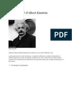 Relativité d'Albert Einstein