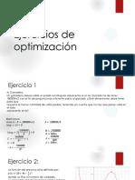 Ejercicios de optimizacion