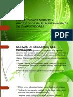 2 Precauciones normas y protocolos en el mantenimiento de