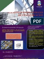 ELEMENTOS ESTRUCTURALES DE UNA EDIFICACION