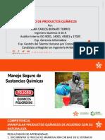 SESION 1 MANEJO DE PRODUCTOS QUIMICOS
