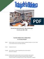 Plan de Trabajo de la Biblioteca