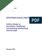Misko Suvakovic Epistemologija