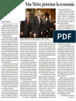 29-Nov-2012. El duro reto de Peña Nieto