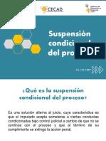 Suspensión condicional del proceso