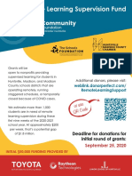 Remote Learning Supervision Fund Flier