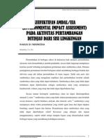 Keefektifan AMDAL_EIA (Environmental Impact Assessment) Pada Aktivitas an Ditinjau Dari Segi Lingkungan_Kasus Di Indonesia
