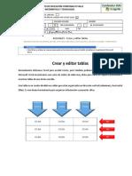 Actividad 5 - Crear y editar tablas