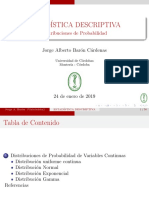 DIST. DE PROBABILIDAD CONTINUAS