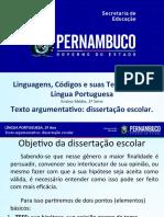 Texto argumentativo dissertação escolar..ppt