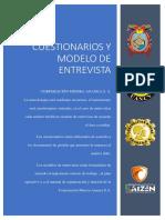 CUESTIONARIO DE SONDEO  DIRIGIDO A LOS COLABORADORES DE LA CORPORACIÓN MINERA ANANEA S