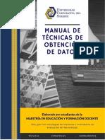 Manual de Tencicas de Recoleccion MEFD Cunduacan