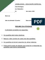 Módulo 2 - Números Reais e gráficos - Atividade flexibilizada