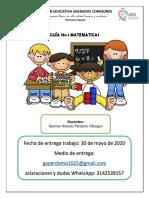 Guía No 001 MATEMATICAS DE 4