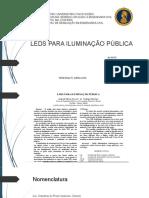 LEDS PARA ILUMINAÇÃO PÚBLICA E PATOLOGIA HIDROSSANITÁRIA