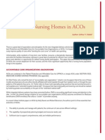 The Role of Nursing Homes in ACOs