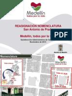 Reasignación Nomenclatura San Antonio de Prado (Octubre de 2013)