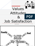 Value ,Attitude,Job Satisfation