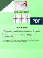 1) C1 Algebra and Functions