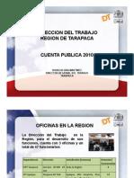 Cuenta Pública - Dirección del Trabajo