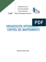 ORGANIZACIÓN DE MANTENIMIENTO