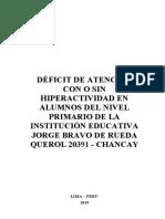 2012_Araníbar_Déficit de atención con o sin hiperactividad en alumnos del primer nivel primario de una institución educativa de Ventanill-convertido
