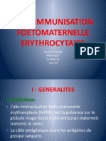 allo-immunisation foetomaternelle erythrocytaire
