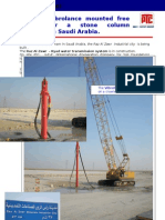 ERKE Group, The VL18 Vibrolance mounted free hanging for a stone column application in Saudi Arabia.