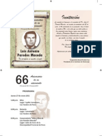 Invitación al homenaje póstumo a Luis Paredes Maceda conmemorarse el natalicio de Luis Paredes Maceda