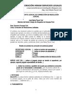 Modelo Escrito Corrección Resolución Judicial - Autor José María Pacori Cari