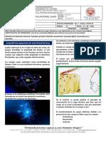Guía de Trabajo Física Grado 11° Electrostática