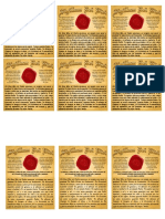 Seal of the Living God (cards)_Spanish
