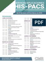 Programa Curso Internacional Aplicaciones PACS HIS ENERO 2018