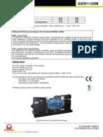 Electric Generator GSW1120M New
