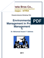 Environmental Management in Projects Management Dr Mohamad Azzam F. Sekheta