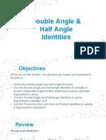 Double Angle and Half Angle Identities