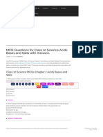 MCQ Questions for Class 10 Science Acids Bases and Salts with Answers - Learn CB