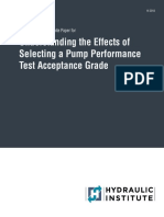 HI White Paper - Understanding the Effects of Selecting a Pump Performance Test Acceptance Grade