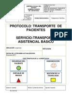 M-GH-P-001 Protocolo transporte  asistencial basico