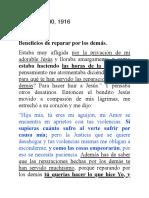 BENEFICIOS DE REPARAR POR LOS DEMÁS.  LIBRO DE CIELO